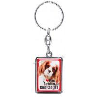 Porte-clés chien CAVALIER KING CHARLES en métal