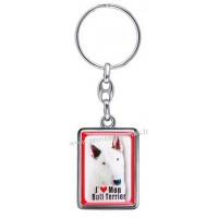 Porte-clés chien BULL TERRIER en métal