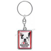 Porte-clés chien BOULEDOGUE FRANÇAIS en métal