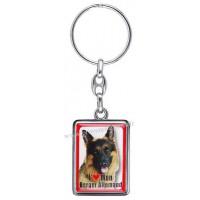 Porte-clés chien BERGER ALLEMAND en métal