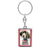 Porte-clés chien BRAQUE ALLEMAND en métal