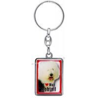 Porte-clés chien BOBTAIL en métal