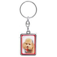 Porte-clés chien CANICHE TOY en métal