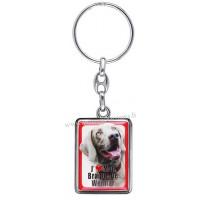 Porte-clés chien BRAQUE DE WEIMAR en métal