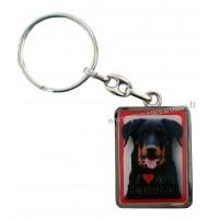 Porte-clés chien BEAUCERON en métal