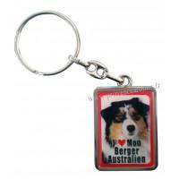 Porte-clés chien BERGER AUSTRALIEN en métal