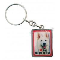 Porte-clés chien BERGER SUISSE en métal