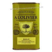 Huile d'olive au Basilic A L'Olivier Bidon 250 ml