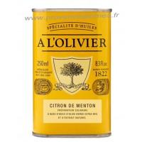 Huile d'olive au Citron de Menton A L'Olivier Bidon 250 ml