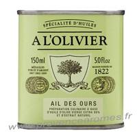 Huile d'olive à l'ail des ours A L'Olivier Bidon 150 ml