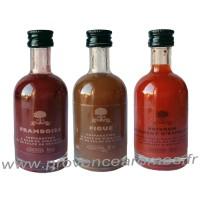 Coffret de 3 Vinaigres Framboise Figue Poivron A L'Olivier Bouteille 50 ml