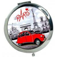 Miroir de poche Paris 2CV (deux chevaux) déco rétro