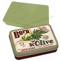 Boîte avec savon BORN TO BE OLIVE Natives déco rétro vintage