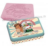 Boîte avec savon BUBBLE GUM Natives déco rétro vintage