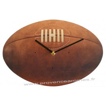Horloge BALLON de RUGBY rétro vintage