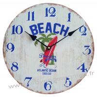 Horloge BEACH Dream déco rétro vintage