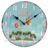 Horloge BEACH BAR déco rétro vintage