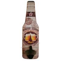 Décapsuleur mural Bouteille bière SOIRÉE MOUSSE déco rétro vintage