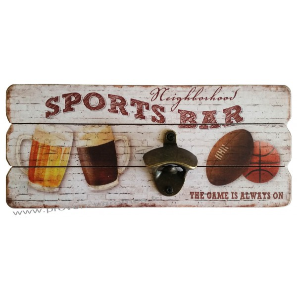 D capsuleur mural sport bar d co r tro vintage provence for Decapsuleur mural