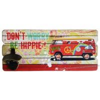 Décapsuleur mural VAN DON'T WORRY BE HIPPIE déco rétro vintage