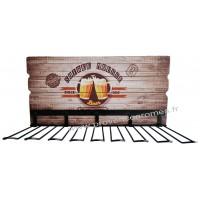 Rack support verres bière SOIRÉE MOUSSE déco rétro vintage