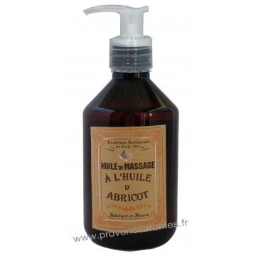 Huile de massage à l'huile d'abricot Un été en Provence