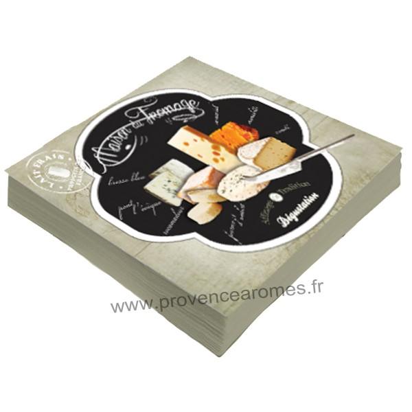Serviettes en papier maison du fromage affinage de for Affinage fromage maison