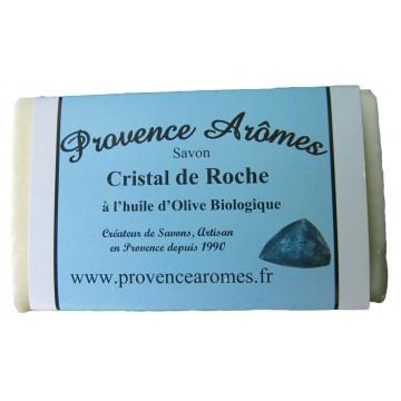 Savon CRISTAL DE ROCHE à l'huile d'olive Bio de Provence Arômes