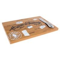 Plateau à fromage en bois avec couteau MAISON DU FROMAGE Affinage de Tradition