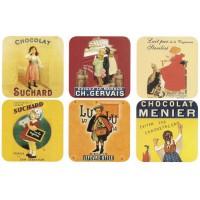 Dessous de verre CHOCOLAT BISCUIT Sous Verre cartes publicitaires rétro vintage