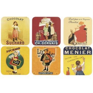 Dessous de verre CHOCOLAT BISCUIT Sous Verre déco publicité rétro vintage