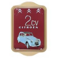 Petit plateau en métal 2 CV deux chevaux Citroën déco publicité rétro vintage