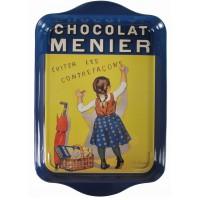 Petit plateau en métal Chocolat Menier déco publicité rétro vintage