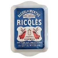 Petit plateau en métal RICQLES déco publicité rétro vintage
