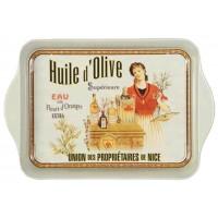 Petit plateau en métal HUILE D'OLIVE Supérieur déco publicité rétro vintage