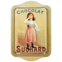Petit plateau en métal CHOCOLAT SUCHARD Petite Fille déco publicité rétro vintage