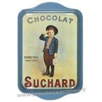 Petit plateau en métal CHOCOLAT SUCHARD Garçon déco publicité rétro vintage