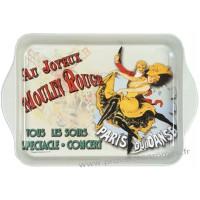 Petit plateau en métal JOYEUX MOULIN ROUGE déco affiche rétro vintage