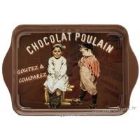 Petit plateau en métal CHOCOLAT POULAIN déco publicité rétro vintage
