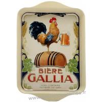 Petit plateau en métal BIERE GALLIA déco publicité rétro vintage