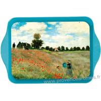 Petit plateau en métal LES COQUELICOTS Claude Monet 1873