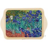 Petit plateau en métal LES IRIS Van Gogh 1889