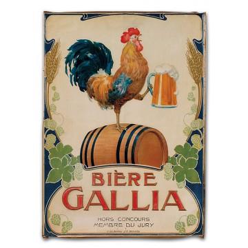 Torchon BIERE GALLIA déco publicité rétro vintage