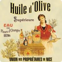 Dessous de Plat HUILE D'OLIVE Supérieure déco publicité rétro vintage