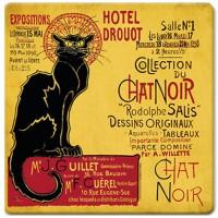 Dessous de Plat TOURNÉE DU CHAT NOIR HÔTEL DROUOT déco affiche rétro vintage