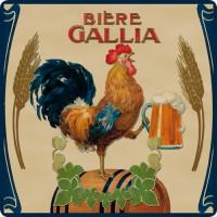 Dessous de Plat BIERE GALLIA déco publicité rétro vintage
