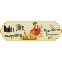 Accroche Torchons métal 4 crochets HUILE D'OLIVE supérieure déco publicité rétro vintage