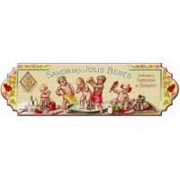 Accroche Torchons métal 3 crochets SAVON DES JOLIS BEBES déco publicité rétro vintage