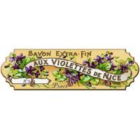 Accroche Torchons métal 3 crochets SAVONS EXTRA-FIN AUX VIOLETTES DE NICE déco publicité rétro vintage