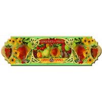 Accroche Torchons métal 3 crochets CONSERVES DE FRUITS déco publicité rétro vintage